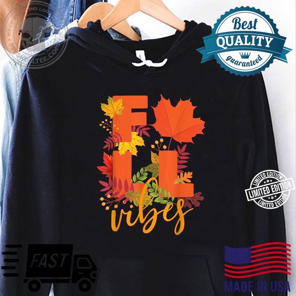Colorful Autumn Leaves Hello Fall Cute Fall Vibes Shirt hoodie