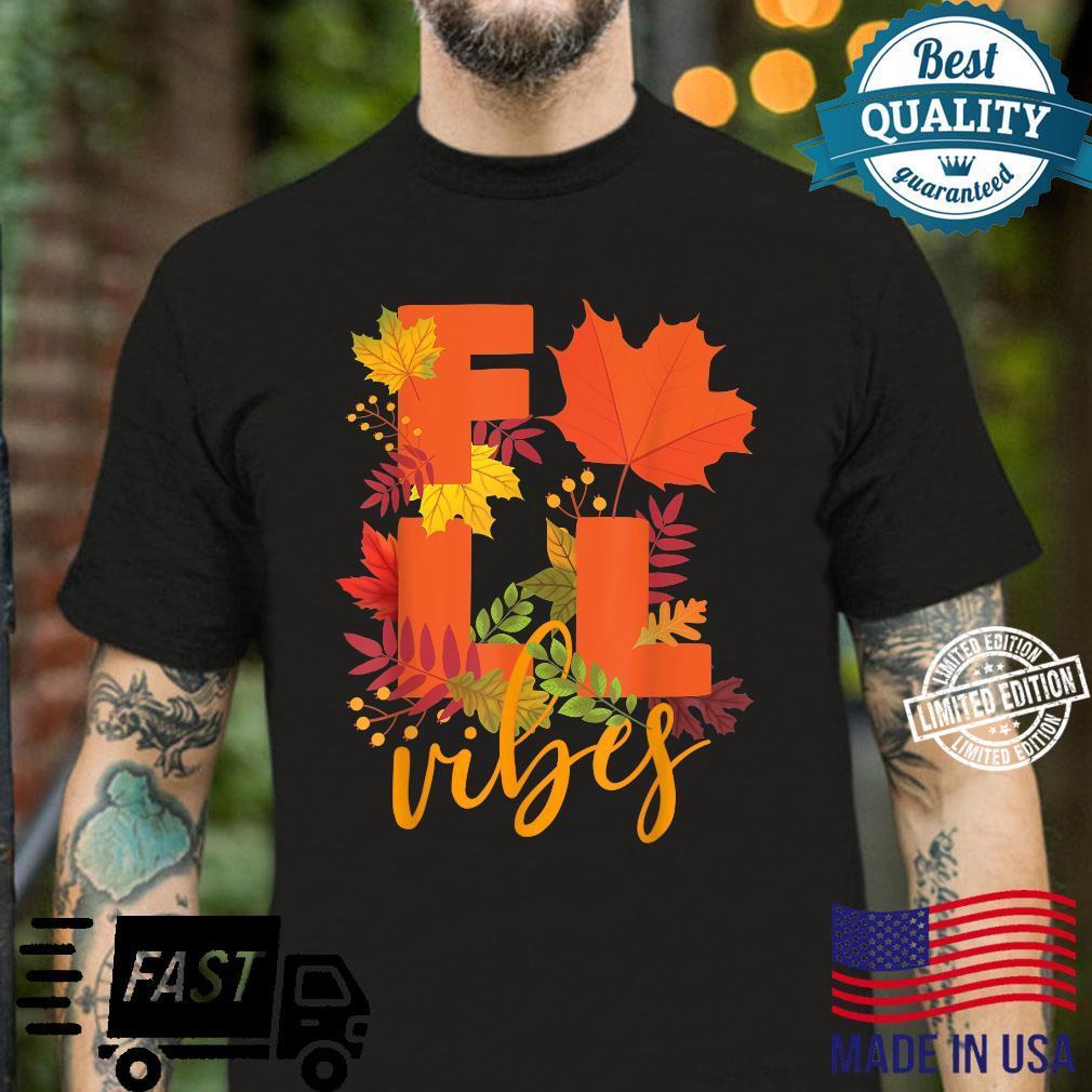 Colorful Autumn Leaves Hello Fall Cute Fall Vibes Shirt