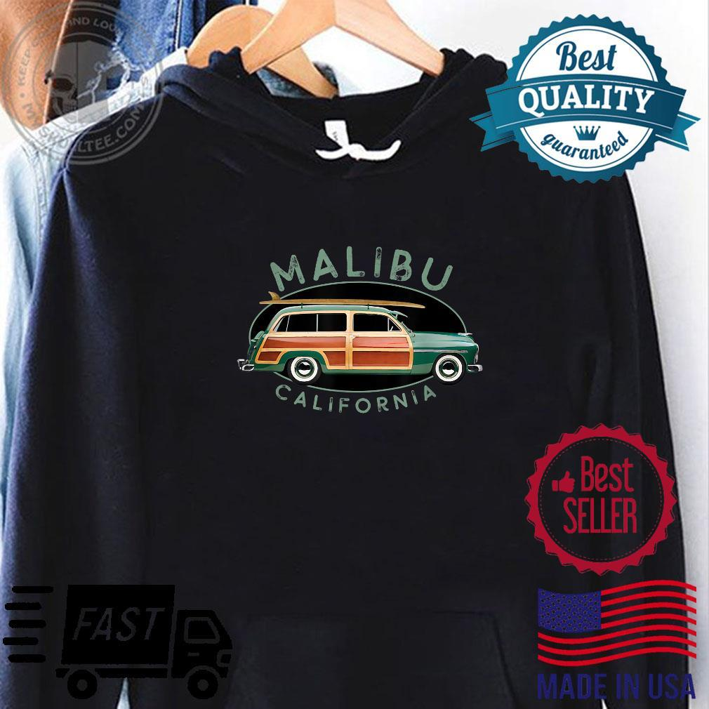 Malibu California Vintage Surfing Design Shirt hoodie