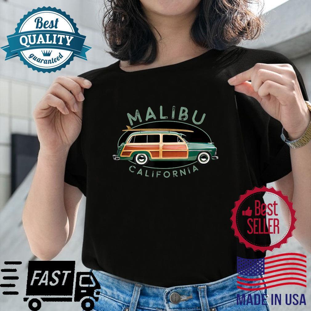 Malibu California Vintage Surfing Design Shirt ladies tee