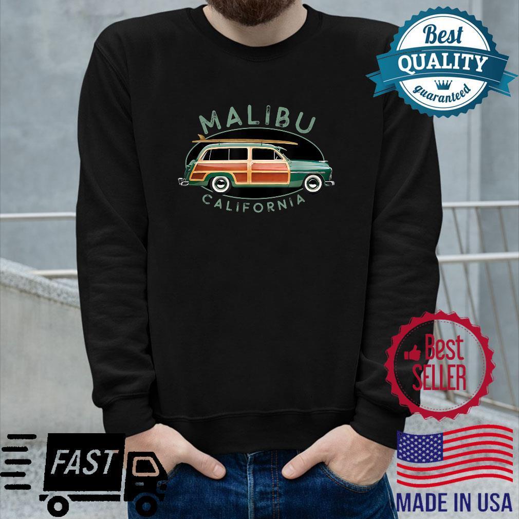 Malibu California Vintage Surfing Design Shirt long sleeved