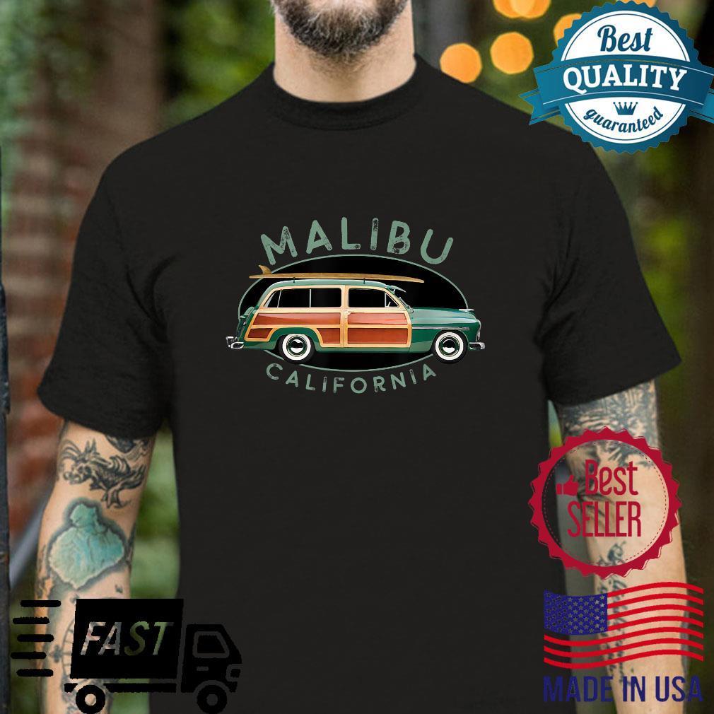 Malibu California Vintage Surfing Design Shirt