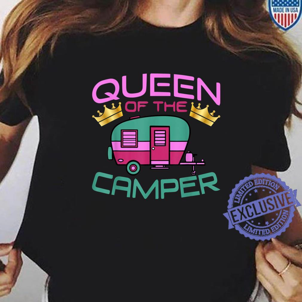 RV Camping Queen Of The Camper Shirt ladies tee