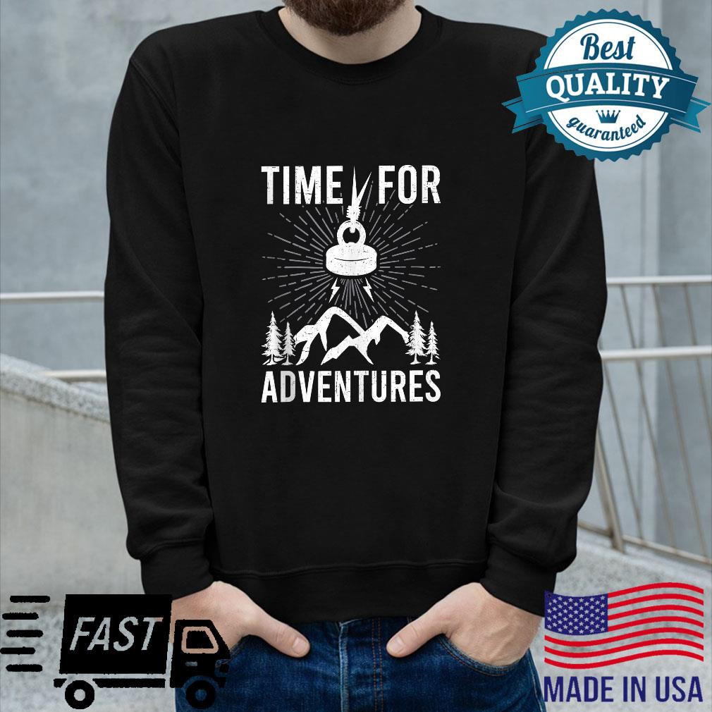 Time For Adventures Magnet Fishings Shirt long sleeved