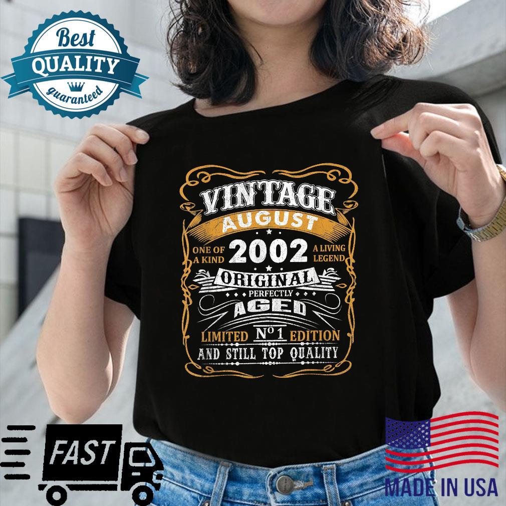 Vintage August 2002 Shirt 19 Years Old 19th Birthday Shirt ladies tee